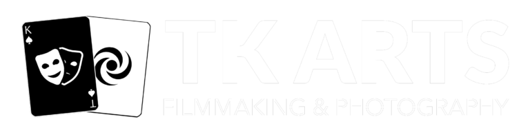 TK Arts, logo, white, transparent