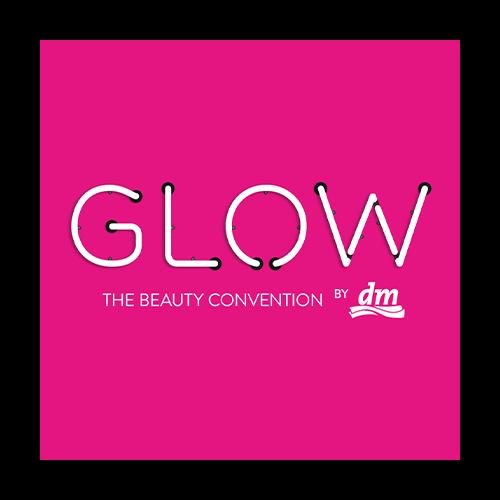 GLOW, dm, logo