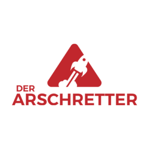 Der Arschretter, logo