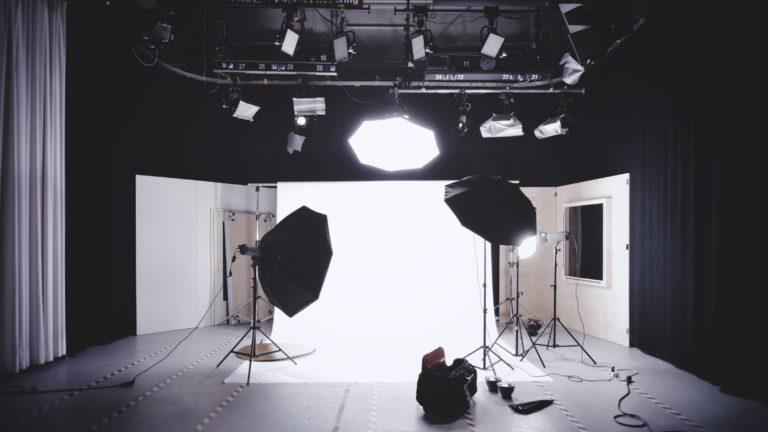 photostudio, softbox, lights